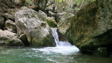 Clean waterfall water — Stock Video