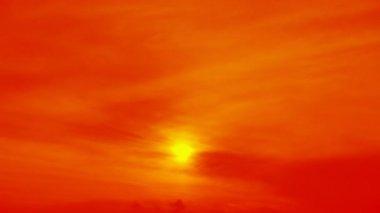 Solnedgång himlen — Stockvideo