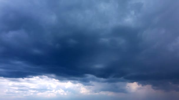 Ciel avec nuages — Vidéo