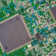 Foto Stock: Fragment of electronic board