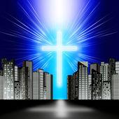 A luminous cross — Stockfoto