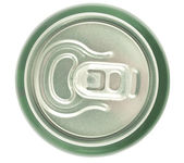 Aluminum can closeup — Foto de Stock