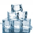 Six ice cubes with reflection — Stock Photo #16548771