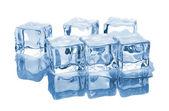 Sei cubetti di ghiaccio con acqua — Foto Stock