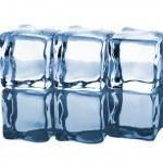 Three ice cubes in row — Stock Photo #19006299