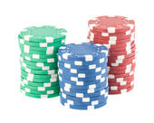 Three stacks of casino chips — Stock Photo