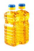 Two plastic bottles of oil — Stock Photo