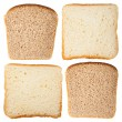 Slices of white and rye bread — Stock Photo #24940073
