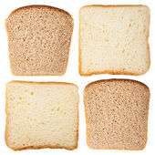 Slices of white and rye bread — Stock Photo