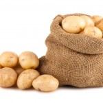 Sack of ripe potatoes — Stock Photo #25423819