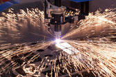 Industrial machine for plasma cutting — Stock Photo