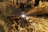 Plasma cutting metalwork industry machine — Stock Photo