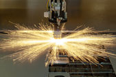 Plasma cutting metalwork industry machine — Foto de Stock