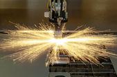 Plasma cutting metalwork industry machine — Stock Photo