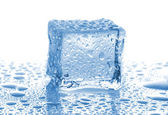 Ice cube with drops of water — Stock Photo