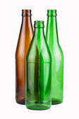 Three empty unlabeled bottles — Stock Photo