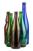 Five empty bottles — Stock Photo