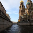 Walking on a boat in St. Petersburg - Stockfoto