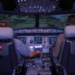 Flight simulator — Stock Video