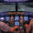 Stock Video: Flight simulator