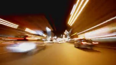 Driving at night, timelapse — Stock Video