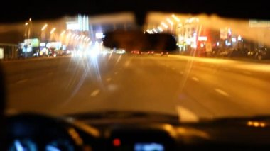 Road at night — Vidéo