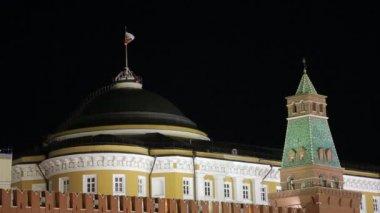 Night Kremlin sequence — Stock Video