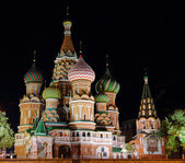 Night St. Basil Cathedral — Stock Photo