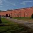 Stock Video: Moscow kremlin wall panorama