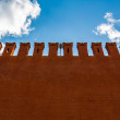 Wall of the Moscow Kremlin with space for text — Stock Photo