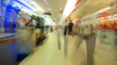 Subjective shopping center time lapse — Stock Video