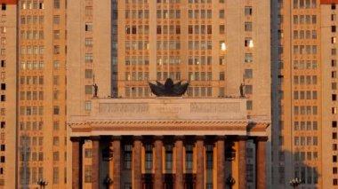 Moscow State University tilt — Stock Video