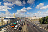 Moscow highway third ring — Stock Photo