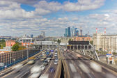 Moscow highway third ring — Stok fotoğraf