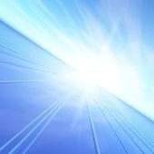 Flash orizzonte blu alba — Foto Stock