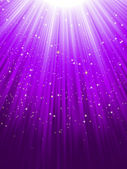 Stars on purple striped background. EPS 8 — Vecteur
