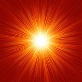 Ster barsten rode en gele brand. eps 8 — Stockvector