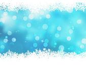 与雪花圣诞蓝色背景。8 eps — 图库矢量图片