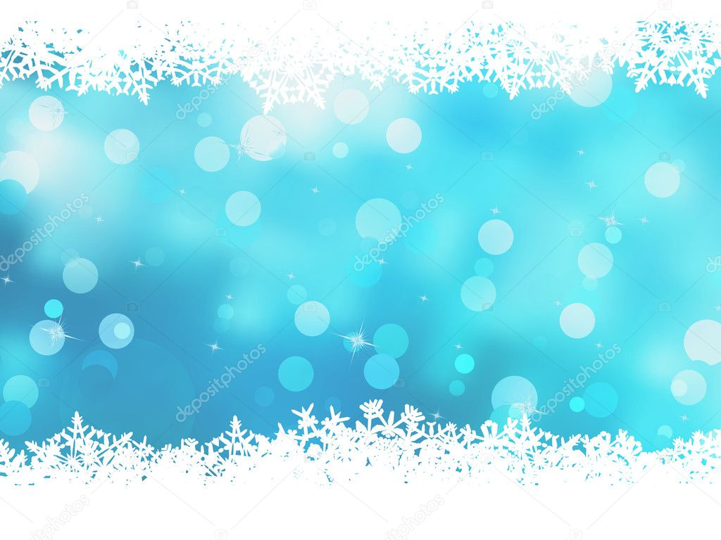 Christmas blue background with snow flakes. And also includes EPS 8 vector — Stock Vector #12519923