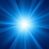 Un diseño de color azul con una explosión. eps 8 — Vector de stock