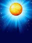 Blå disco bakgrund. eps 8 — Stockvektor