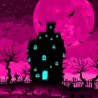 Spooky castle and bats. EPS 8 — Image vectorielle