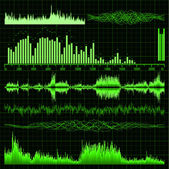 Geluidsgolven instellen. muziek achtergrond. eps 8 — Stockvector