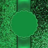 Green glitter sparkles snow flakes. EPS 8 — Stock Vector
