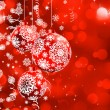 Christmas bokeh background with baubles. EPS 8 - Stockvektor