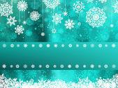 Christmas with snowflake — Stock Vector