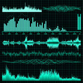 Sound waves set. Music background. EPS 8 — Stockvector