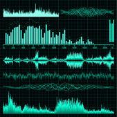 Conjunto de ondas sonoras. fondo de la música. eps 8 — Vector de stock