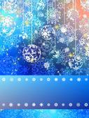 Christmas card colorful bokeh of lights. EPS 8 — Stock Vector