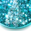 Christmas tree on blue glitter. EPS 8 — Imagen vectorial